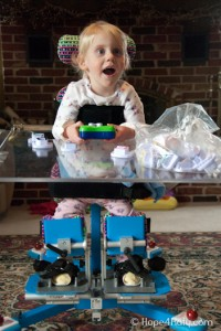 Katy in her stander